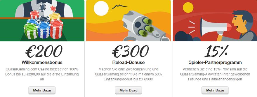 200 € Bonus im Quasar