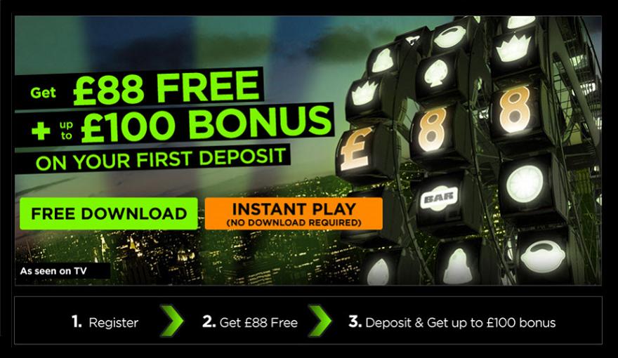 888 Casino freeplay bonus