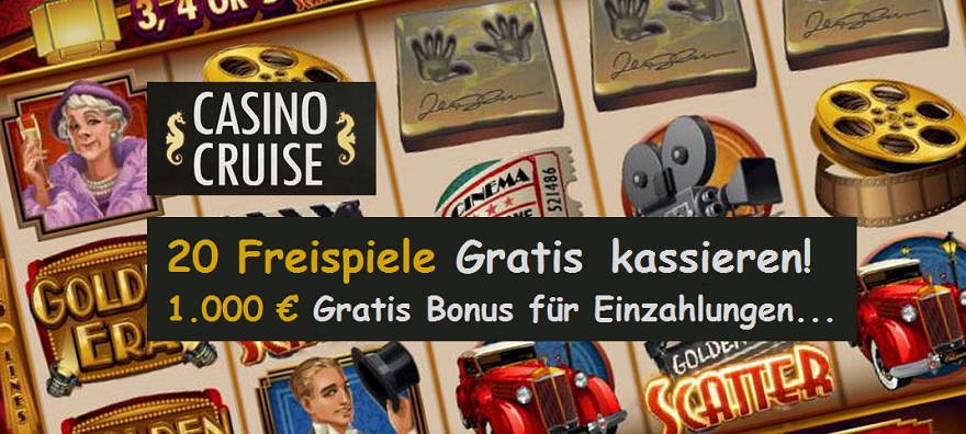 20 Freispiele gratis Casino Cruise