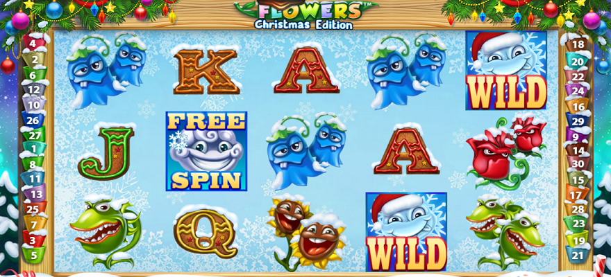 Flowers Christmas Slot, Casino Cruise