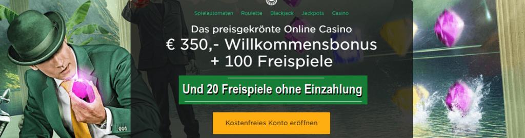 Mr Green 20 Freispiele ohne Einzahlung Bonus