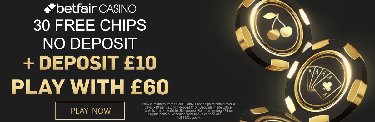 Betfair 30 Free Chips UK Bonus