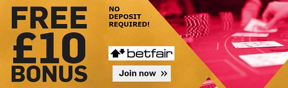 Betfair UK No Deposit Welcome Bonus