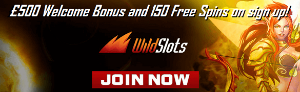 Wild Slots UK Casino Welcome Bonus