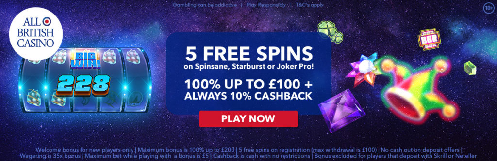 All British Casino Free Spins