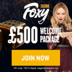 Foxy Sign Up Bonus
