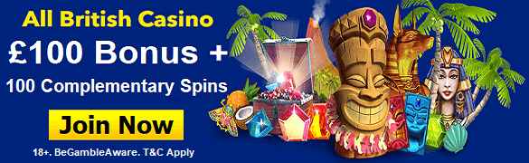 All British Casino Free Spins Bonus UK