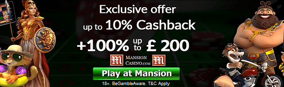 Mansion Cash Back UK