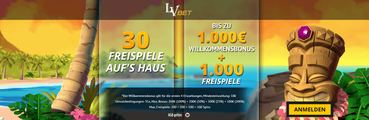 LVbet Casino 30 Freispiele Gratis Bonus